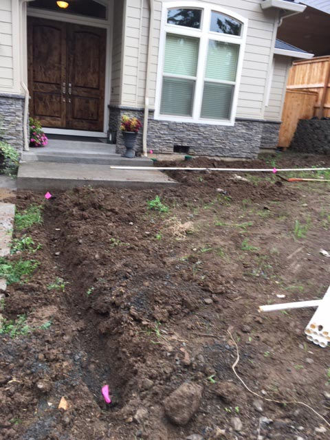 Before Water-Rite, Inc landscaping