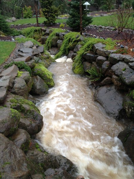 A picture of a water feature done by Water-Rite. Learn more about water features and our landscaping services at Water-Rite, in Vancouver, WA